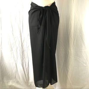 SARONG Swimwear Coverup Black Sheer Skirt Dress